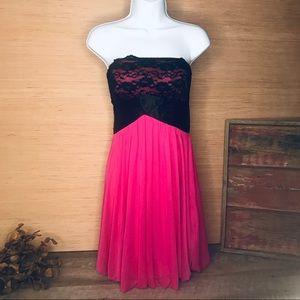 Studio Y pink strapless mini formal dress